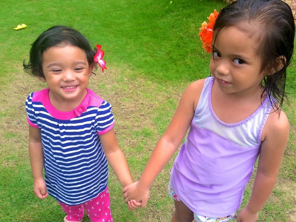 Cebu Marine Resort toddler eating fruits Watermelon mango girlfriends