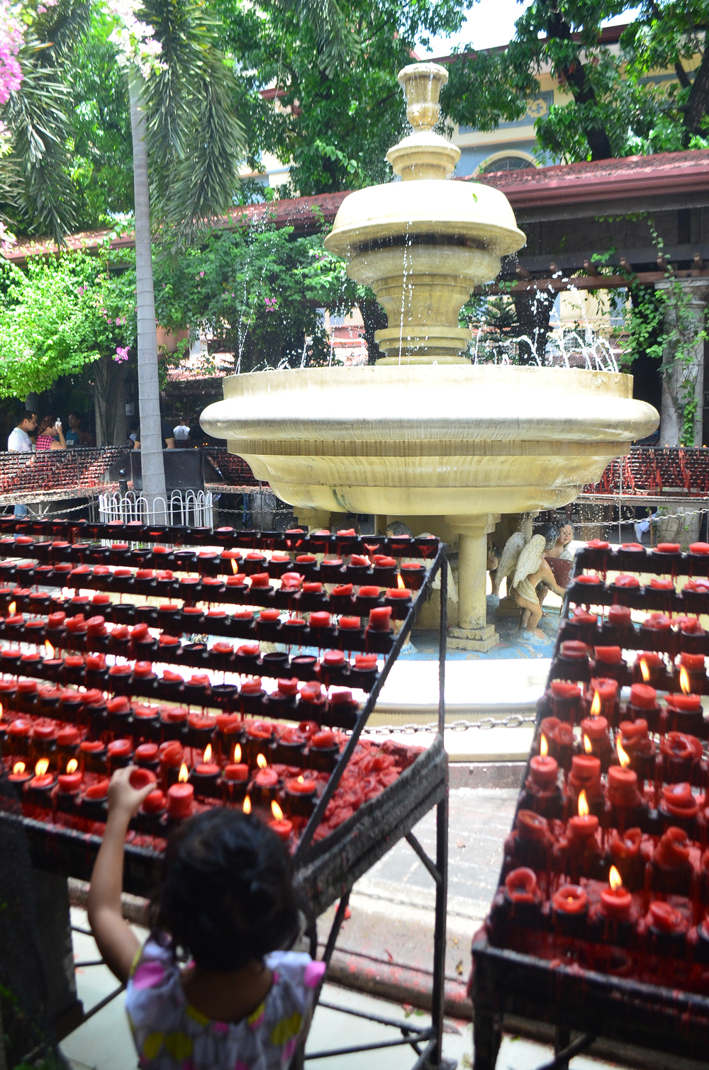 santo nino red candles