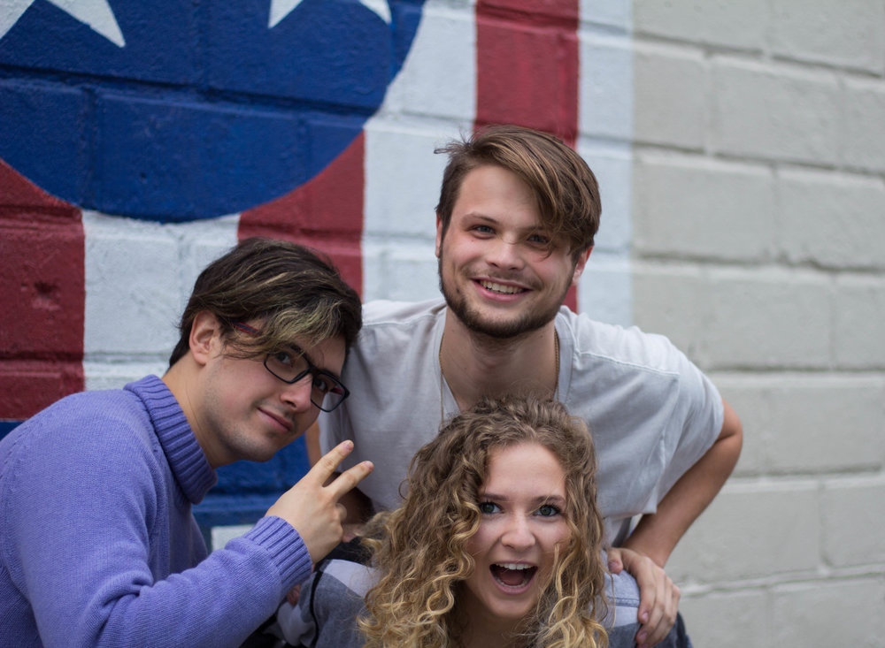 Eric (left), Ryan (upper-middle) and Nikki (lower-right)