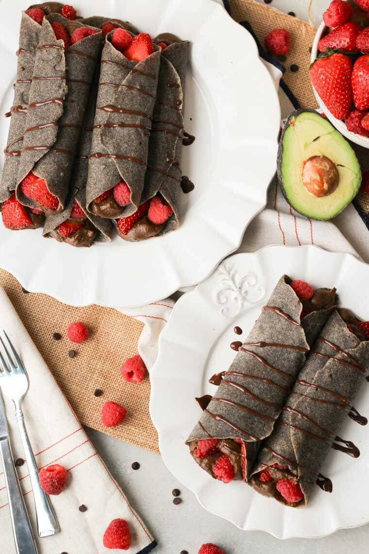 Berry Buckwheat Crepes