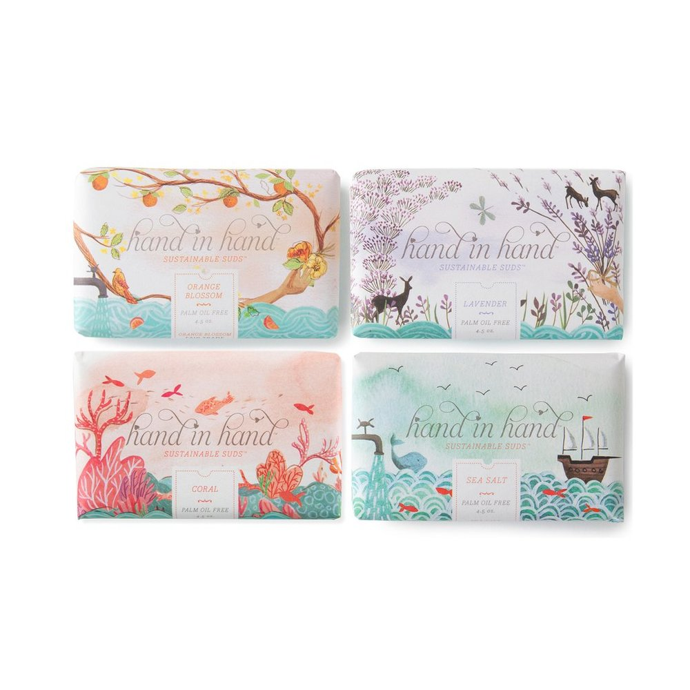 4 Pack Assorted Bar Soap Set