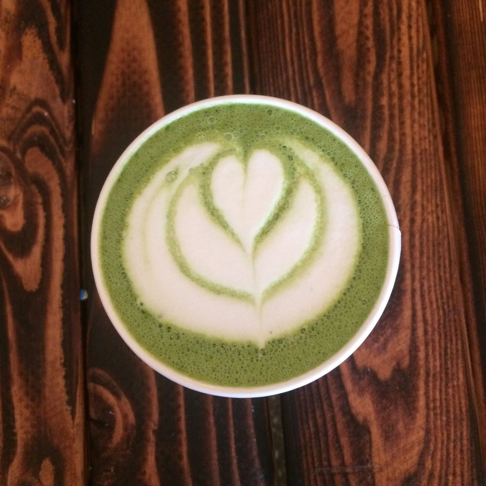 Rose Matcha Green Tea Latte