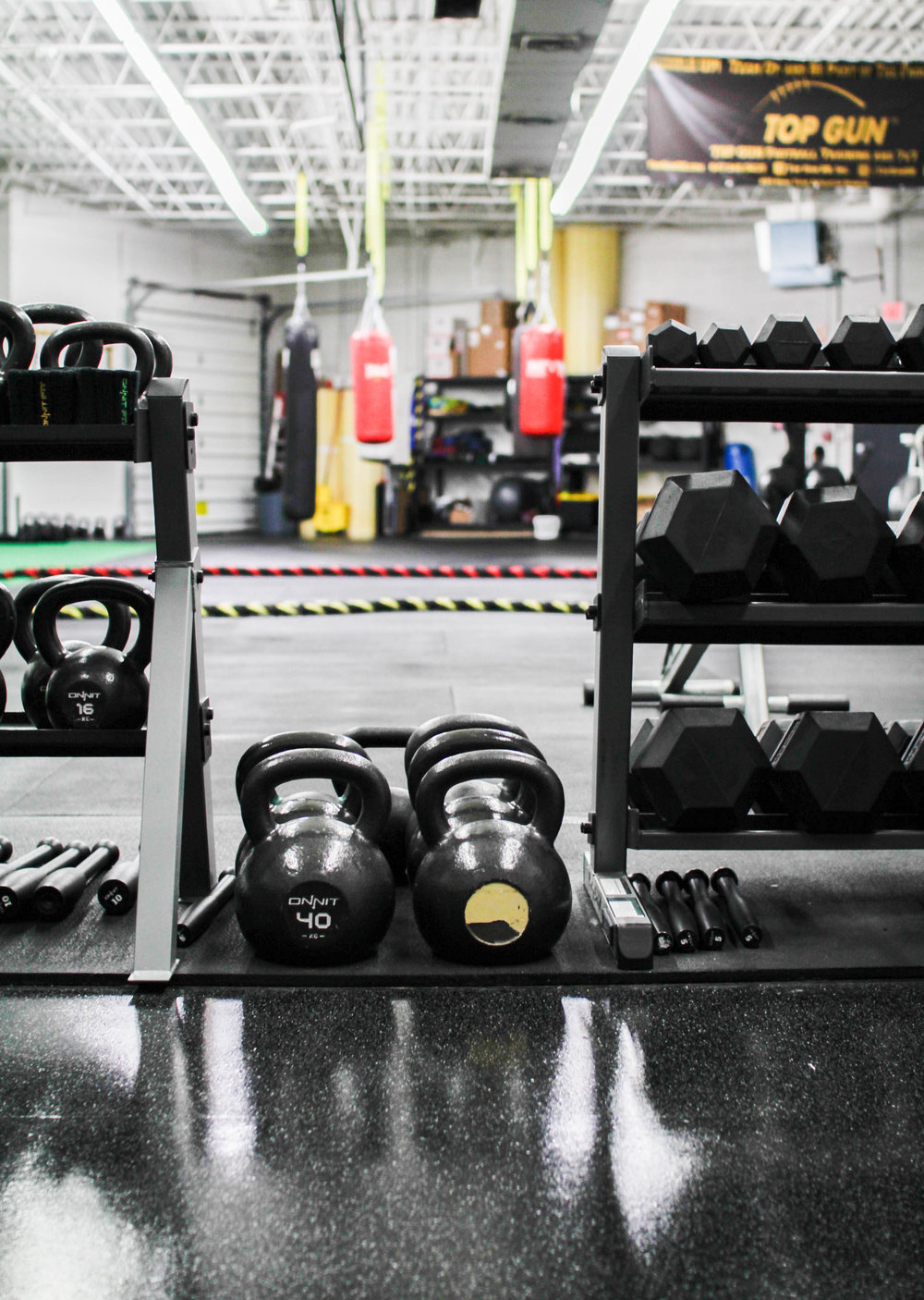 Unconventional training including clubs, kettlebells, steel mace & more!