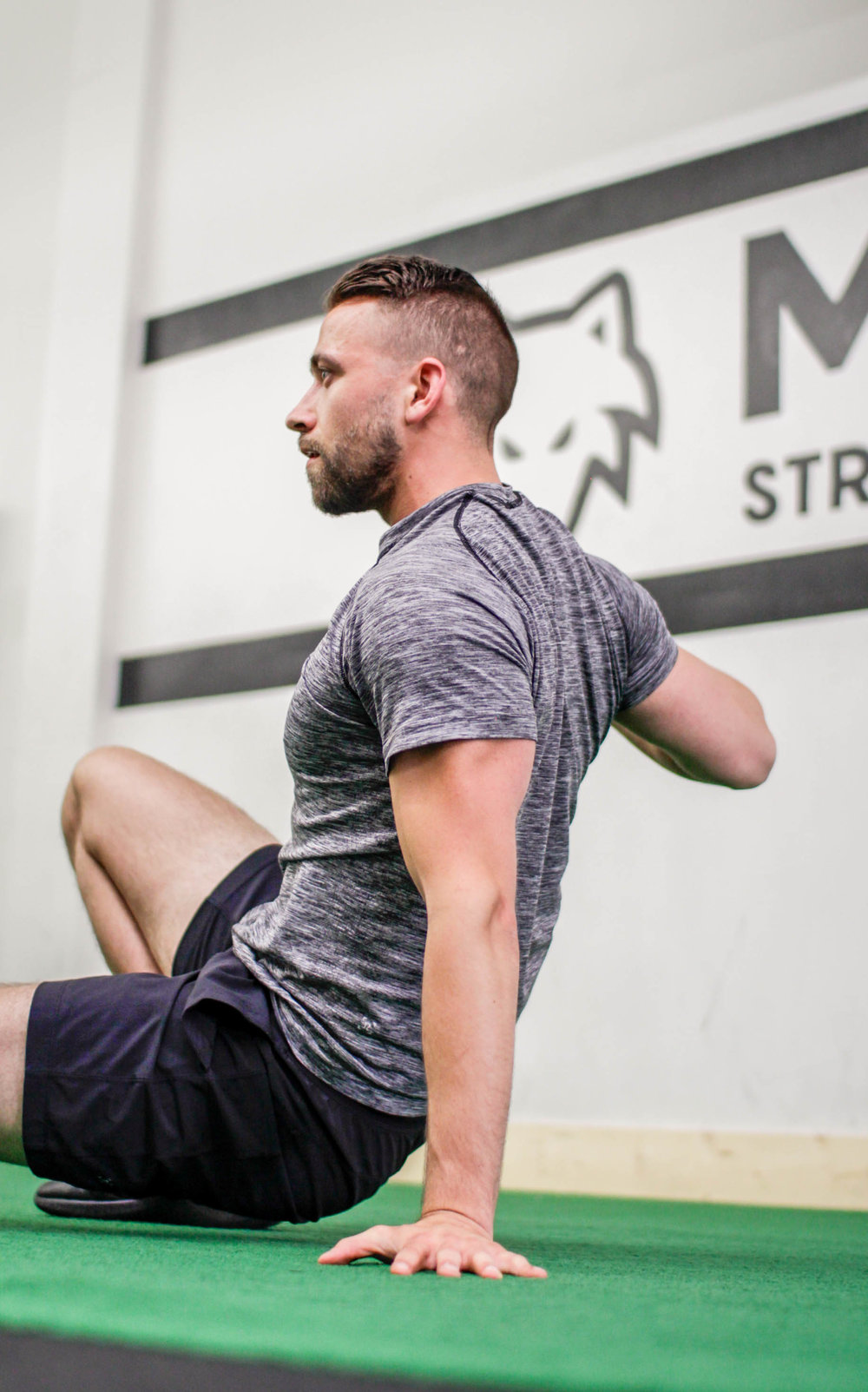 Zane Roebuck, Co-owner of Midwest Strength + Performance, in Chicago.