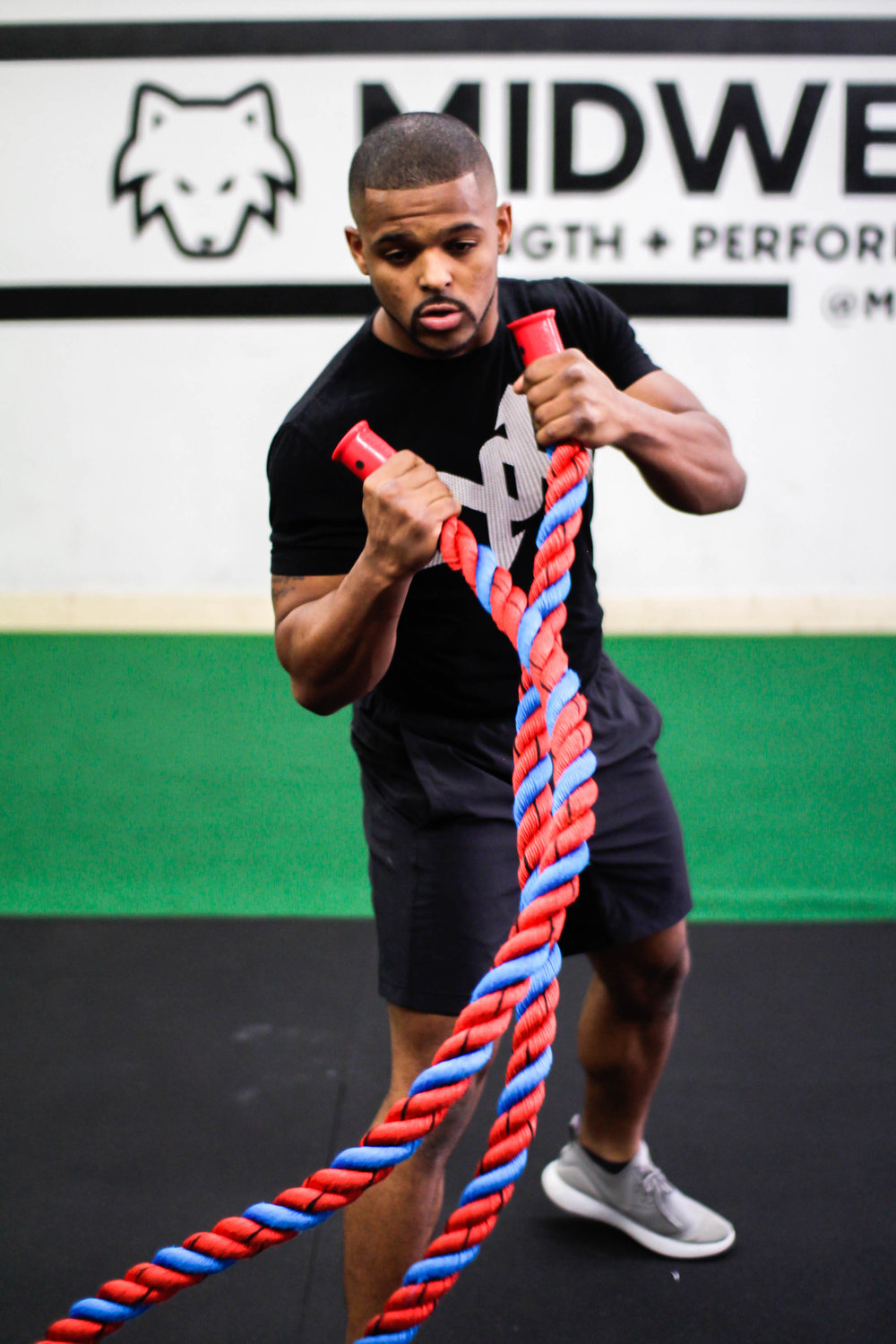 Battle Rope exercises and classes near me, in Wheaton and Naperville, Illinois.