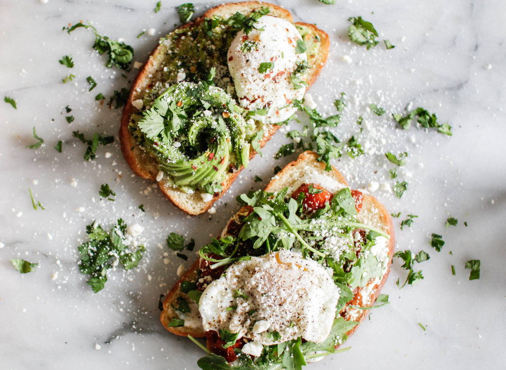 Avocado Toast Recipe with Feta Cheese and Tomatoes