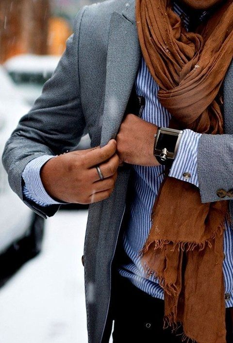 Styling Men's Scarves