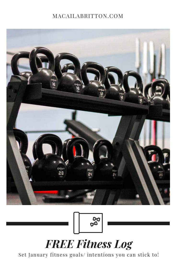 2019 Free Fitness Calendar