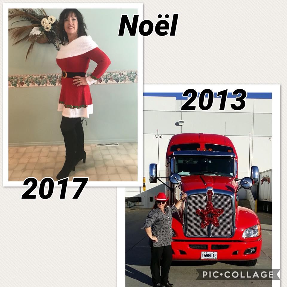 Claudine en 2013 et 2017