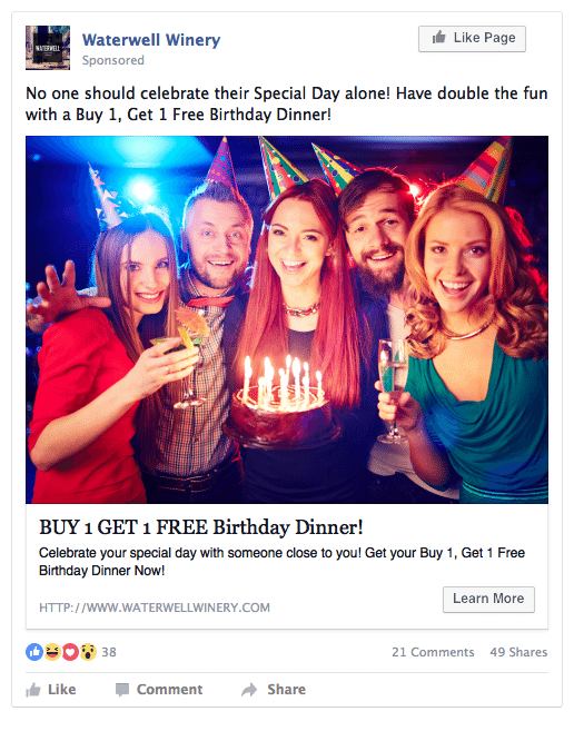 Facebook Ads For Restaurants Ad Sample FortyWeb.png