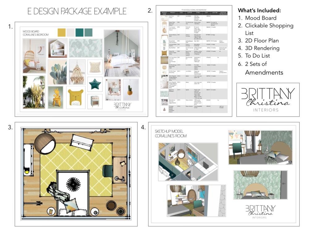 e design package example brittany christina interiors - Interior Design List