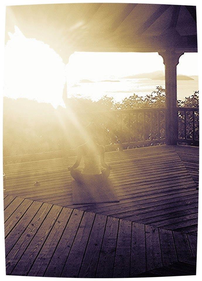 Sunset meditation at Maho Bay, St. John, USVI