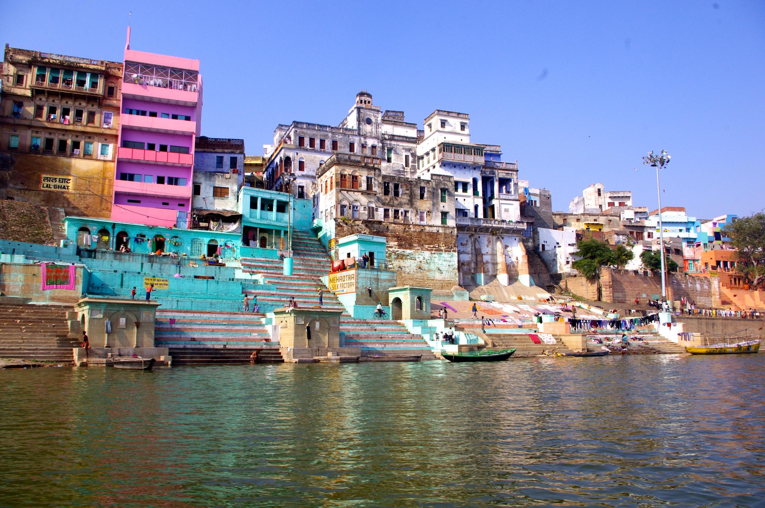 Colorful Varanasi on the banks of Mother Ganga