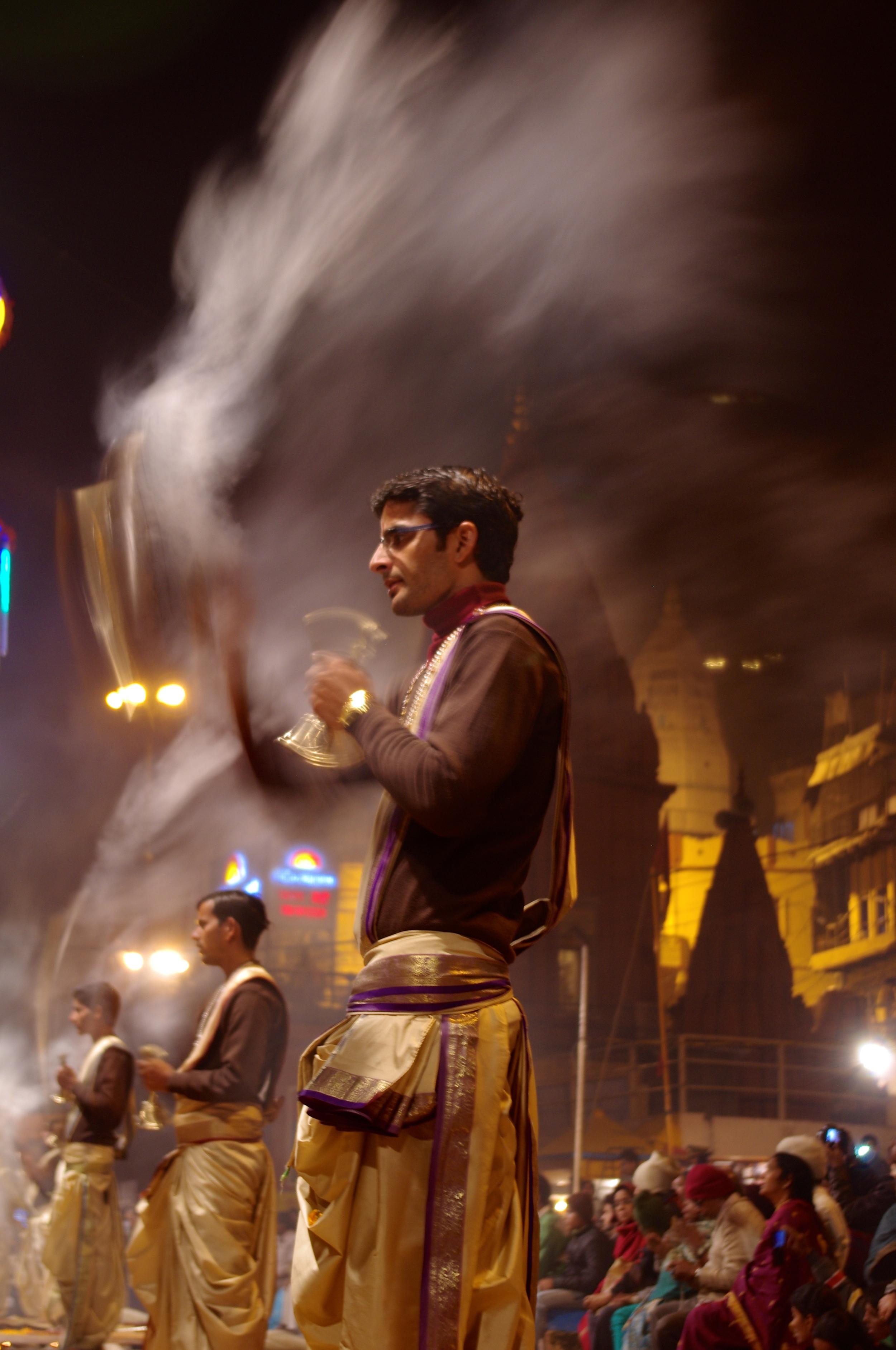 A Hindu Priest performs