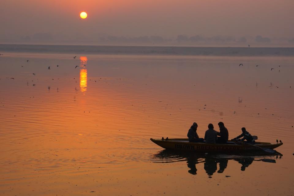 Sunrise over the Ganges. Photo Credit: Sonja Vanjicki