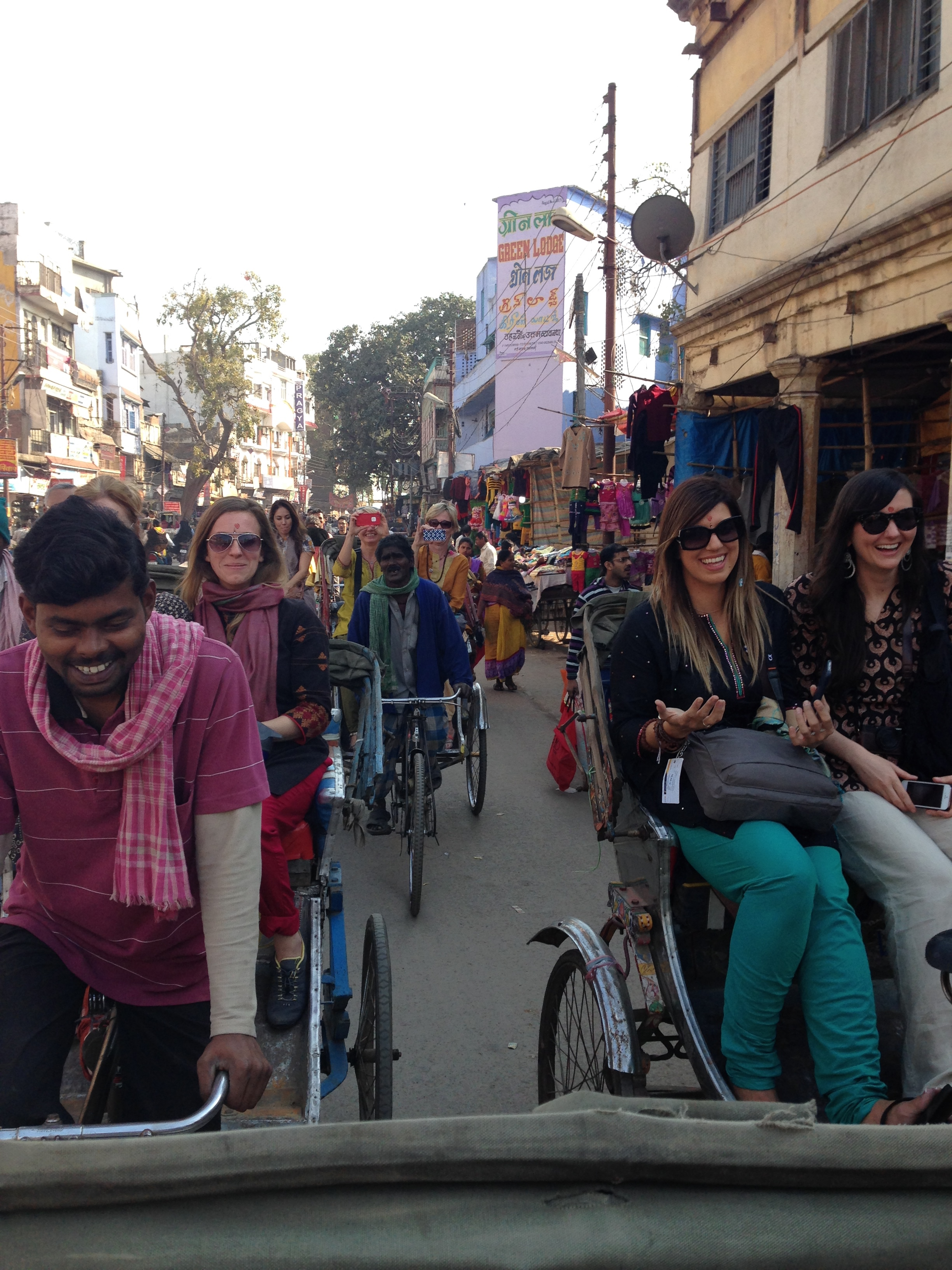 Rickshaw rides are the best way to travel!