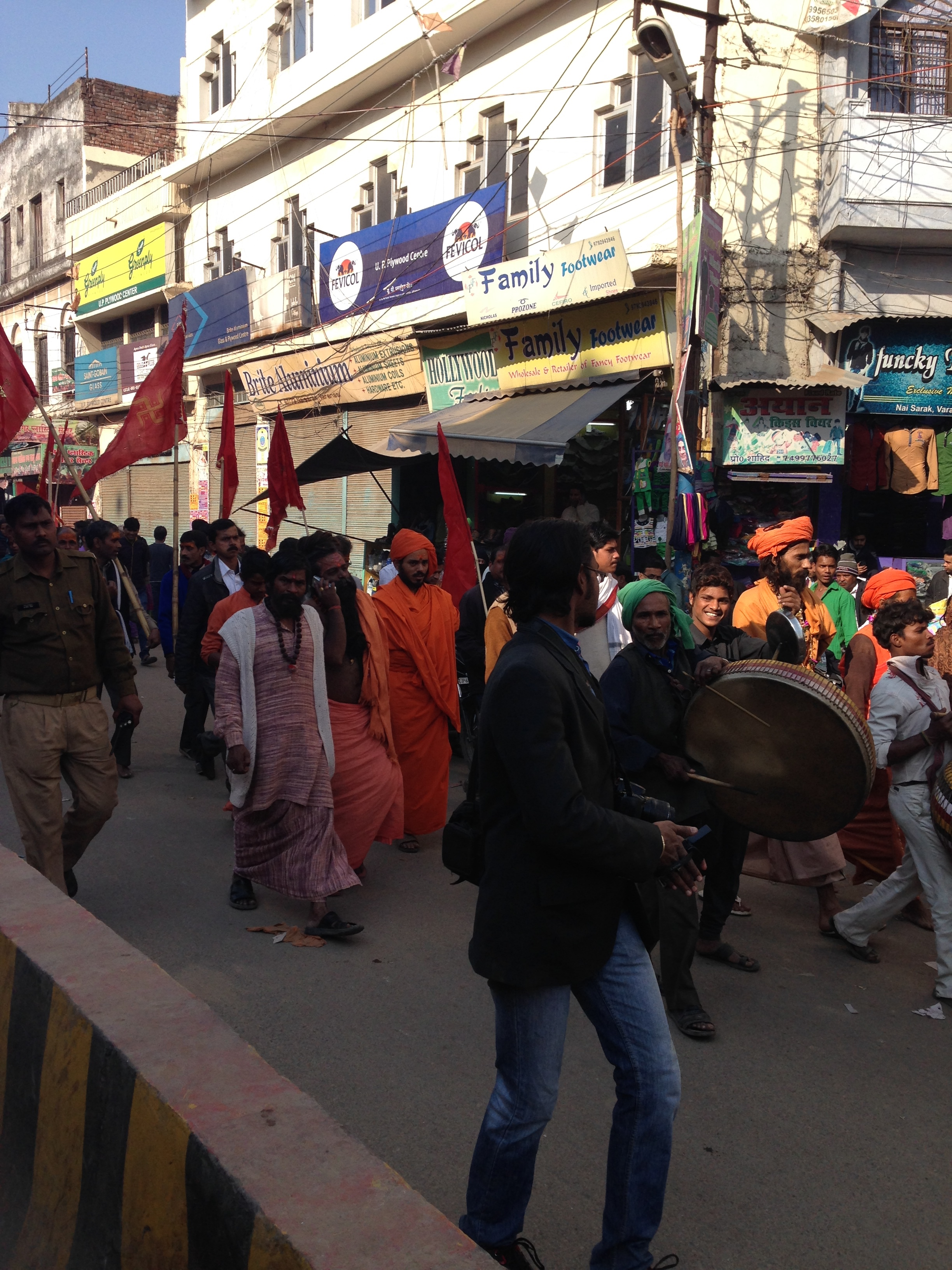 The lively streets of Varanasi