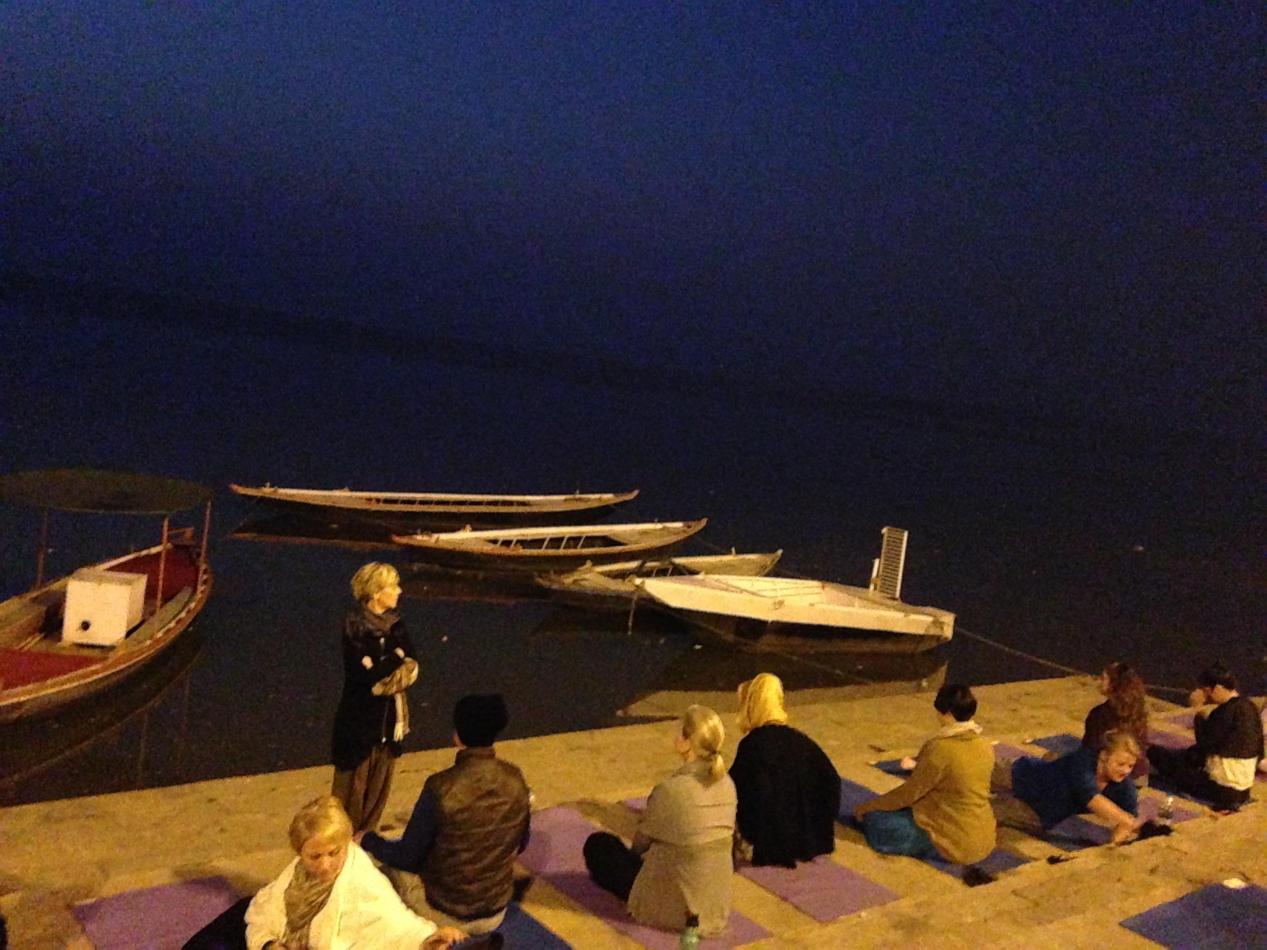 Yoga on the Ganges. Photo Credit: Dandapani