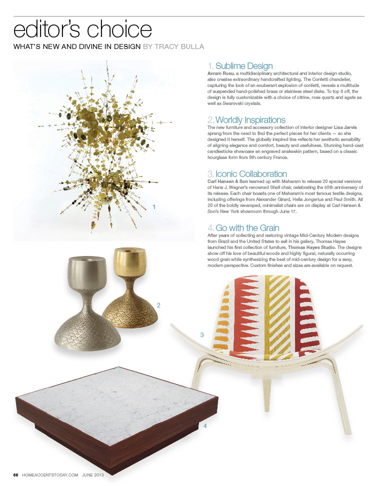 HOME ACCENTS TODAY: JUNE 2013   Featuring the Quadrar Coffee Table