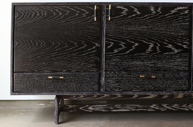 Throw back to an old custom piece. The Black and Tan Ceruse Josephine Credenza.
