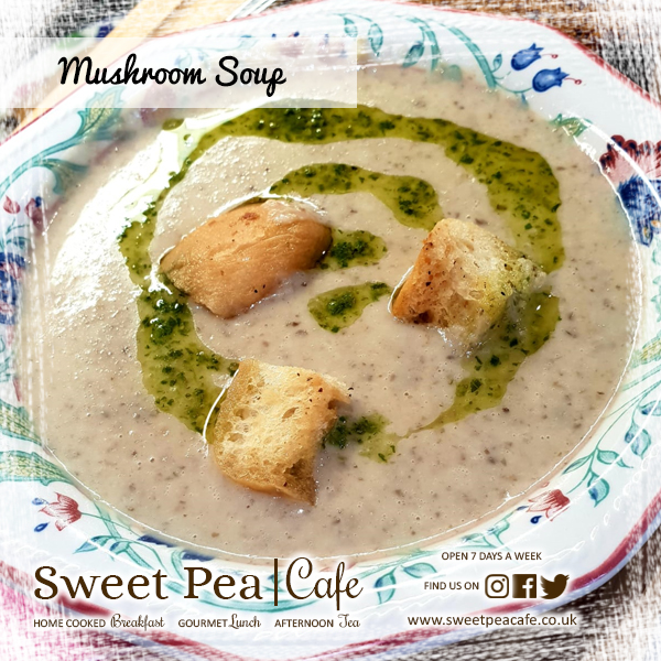 Sweet Pea Cafe Warrenpoint Mushroom Soup