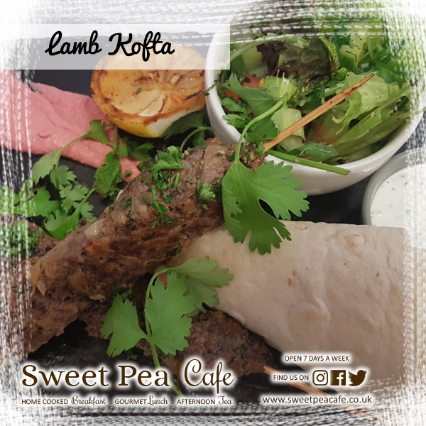 sweet pea cafe warrenpoint, Lamb Kofta