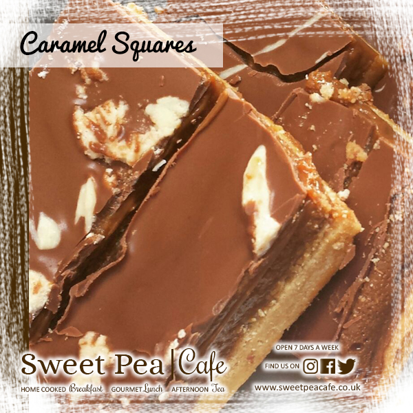 Sweet Pea Cafe Warrenpoint Caramel Squares