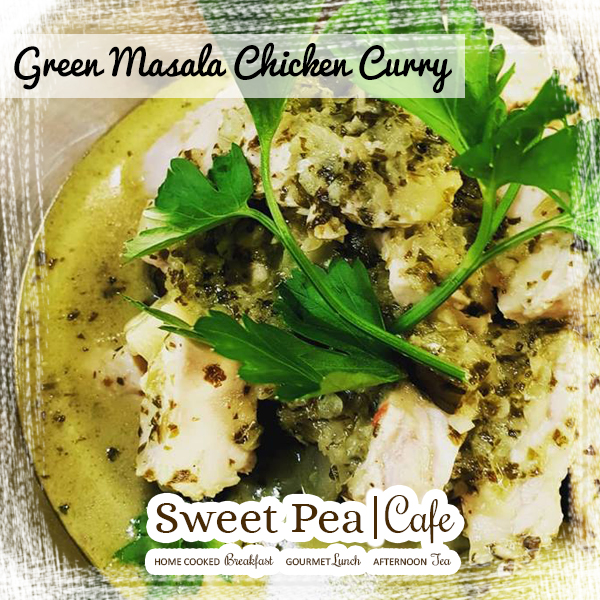 Sweet Pea Cafe Warrenpoint, Green Masala Curry