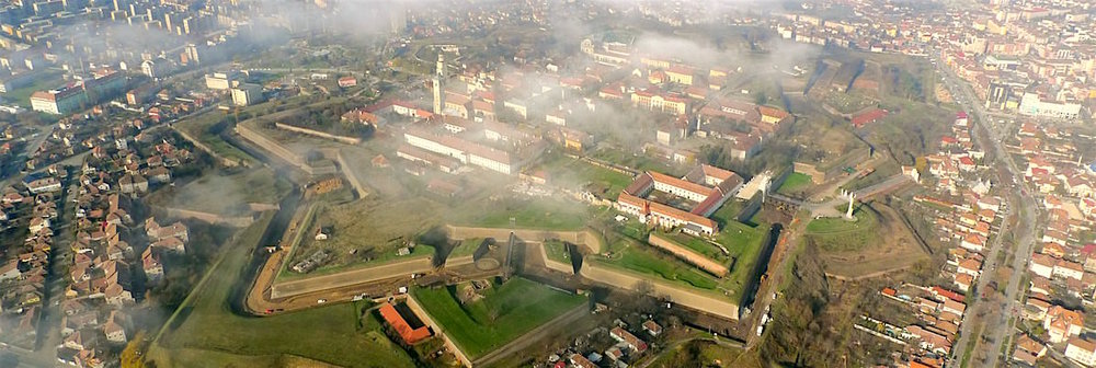 Romania's largest citadel was built by the Austrians centuries ago for defensive purposes ( image source )