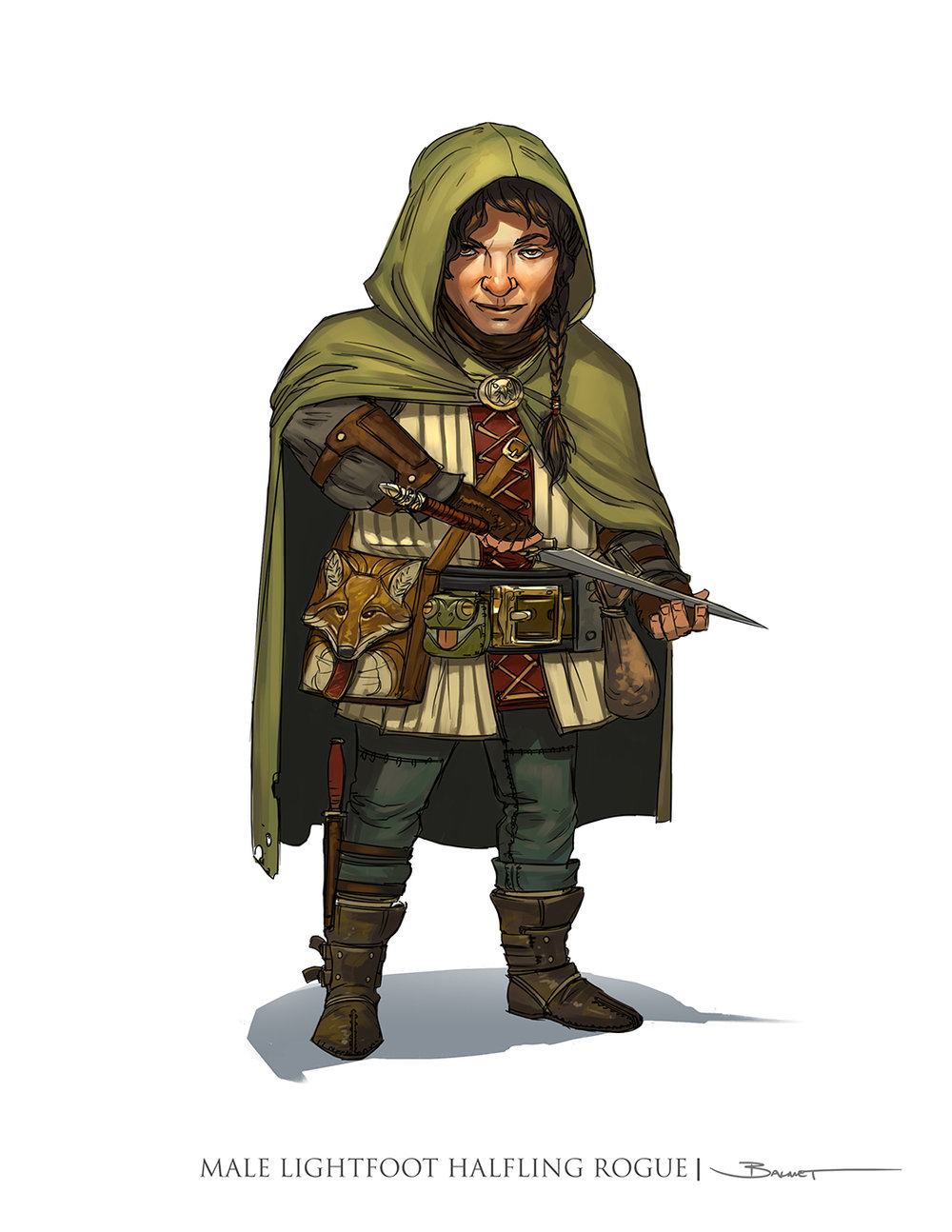 A Male Halfling Rogue