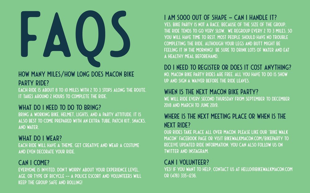 bike party faqs