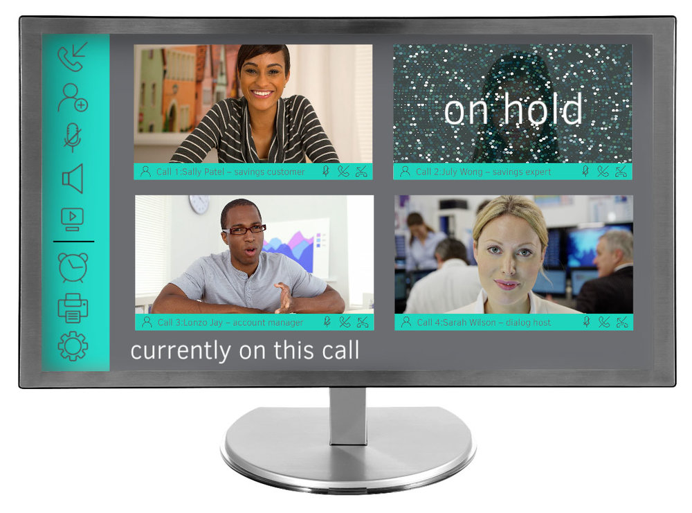 Manage multiple callers; hold, mute or forward as easily as a smartphone