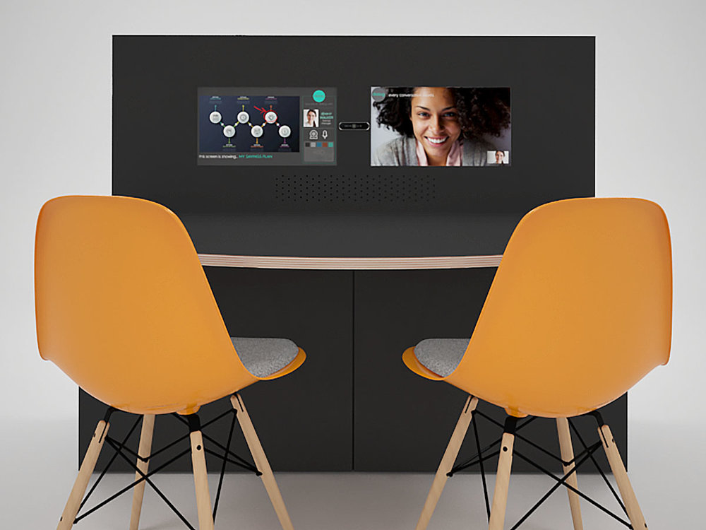 Vconsole - Vpod console fills the gap between pods and technology. In areas where technology integration is required but without the need for a Vpod, we have created the console which integrates all of your technology in a concealed, standalone package.Console comes in a range of finishes and can be adapted to suit specific requirements.A standalone video terminal that you can drop in anywhereBespoke to your requirementsImmersive without the expenseVconsole: keeping it all together