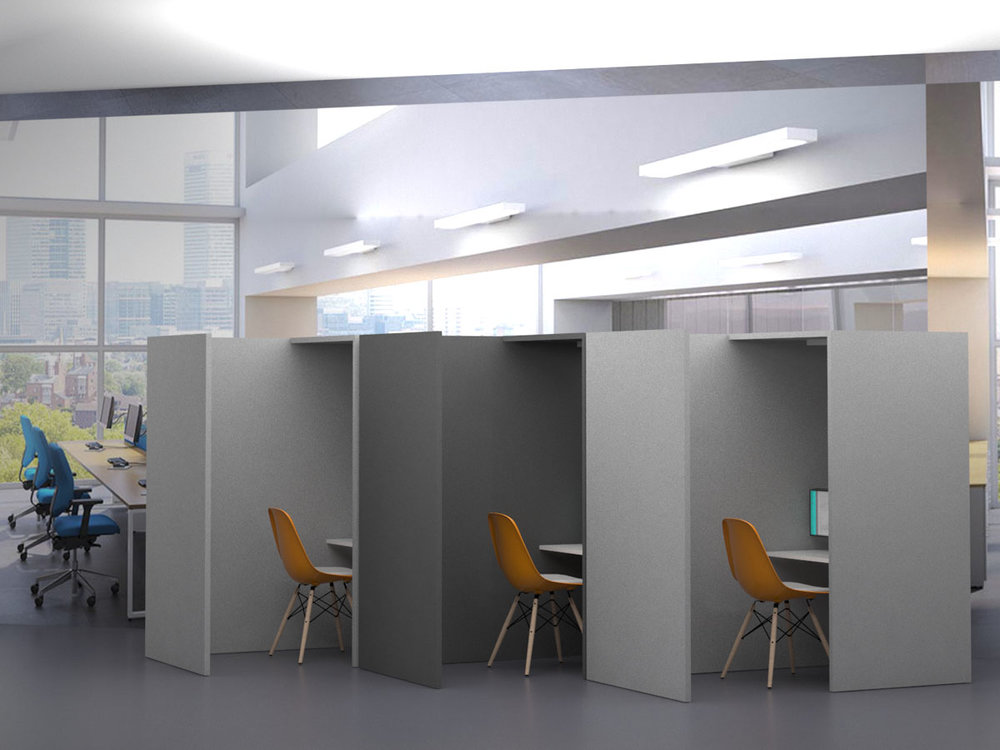 Vcove - The Vcove is a simple and elegant solution, providing clear communications in environments where total privacy isn't essential.Despite its open format, cove still provides an element of privacy and with Vpods unique directional audio, sound pollution is kept to a minimum.The video environment for contact centresControlled environments for customer engagementSimple to deploy and cost effectiveVcove: less is more