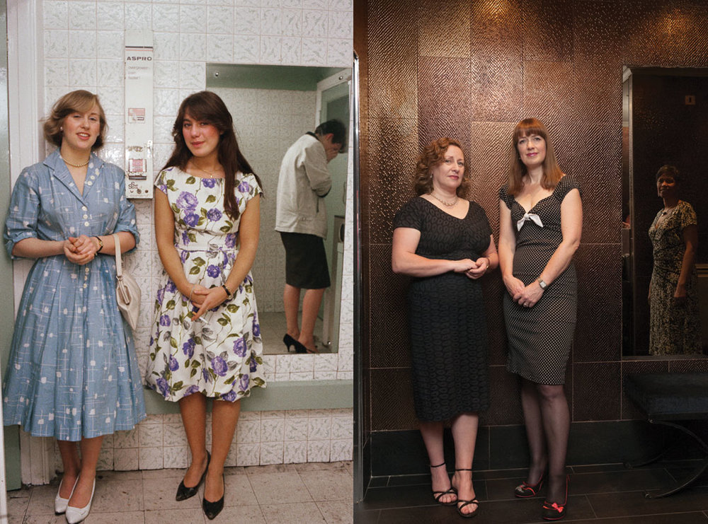 Kate and Friend, The Royalty Southgate, March 1981 (Left). Kate and friends, Radisson Blue Edwardian in Seven Dials, London, December 2014 (Right). Found via Buzzfeed