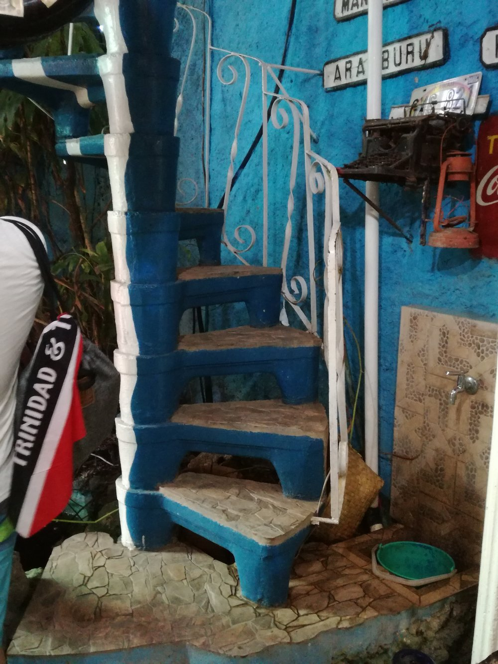 Stairs that probably led to the actual residence of Salvador. And we always rep our 868!