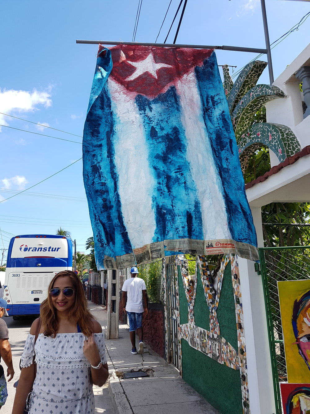 Cuban pride is present everywhere.