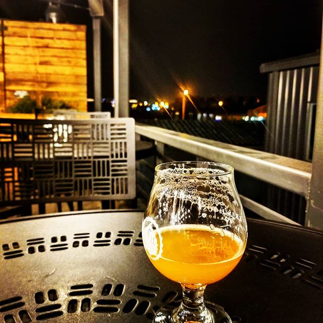 Rooftop at Odell's Brewery Denver.