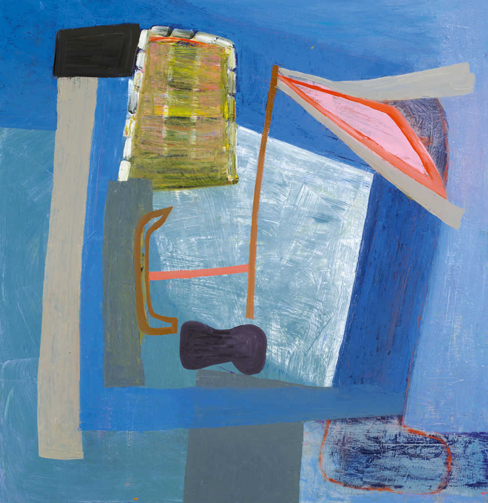 Amy Sillman, Untitled, 2012, oil on canvas, 51 × 49 inches.