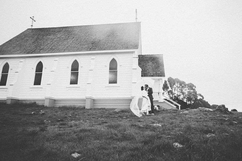 Chapel on a hill wedding