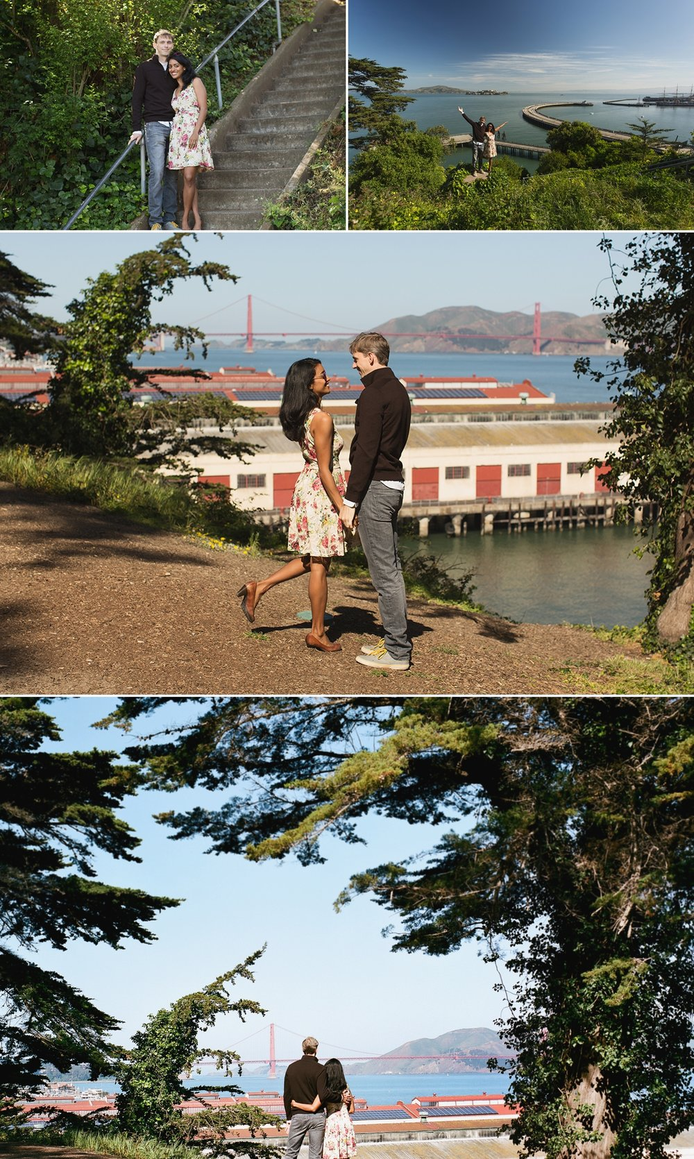 Engagement photos at Black Point Battery in San Francisco's Fort Mason, where Zach and Serina later were married!