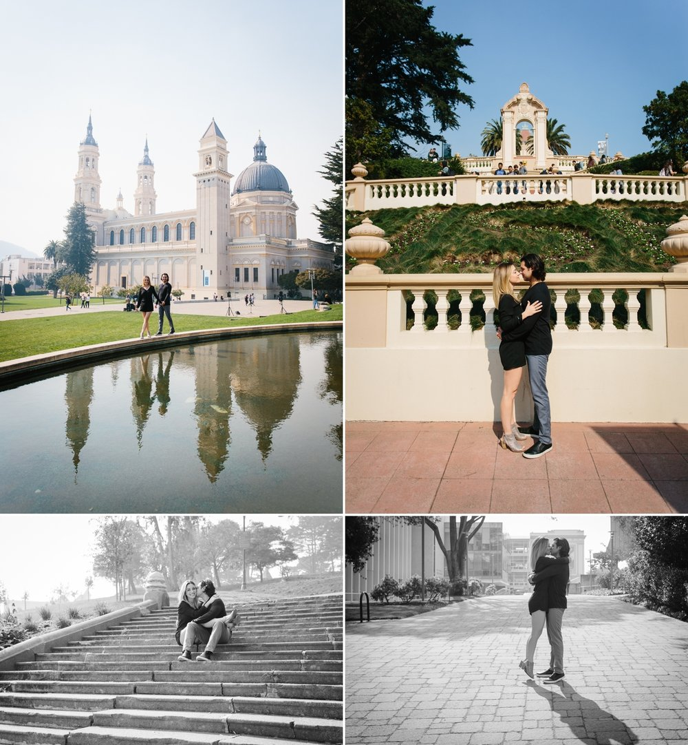 Sam studied at the University of San Francisco...it's such a beautiful campus for engagement photos!