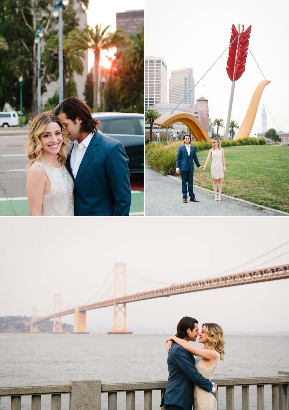 A walk along the Embarcadero at the Ferry building, and the Bay Bridge is so beautiful at sunset.