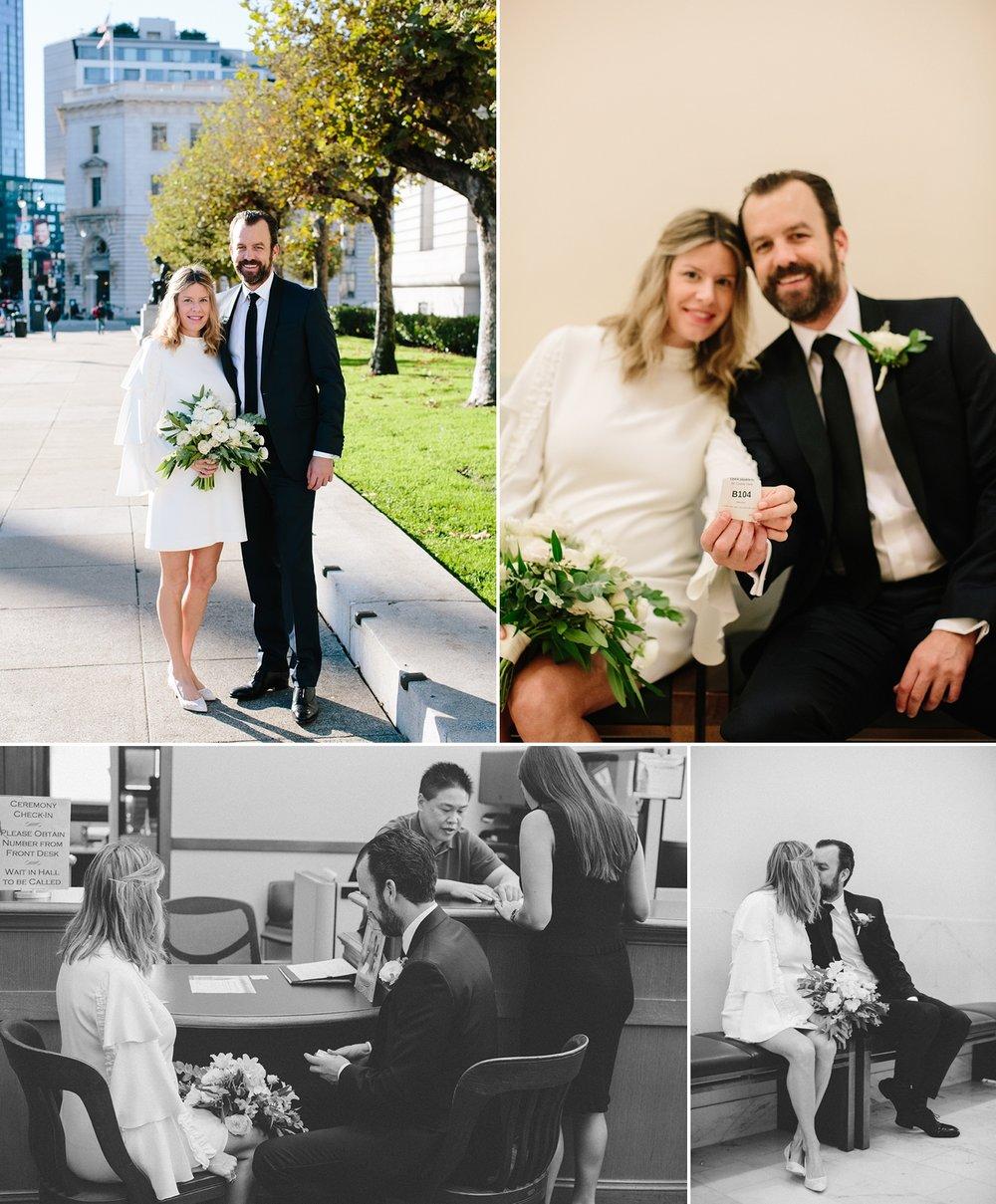 Kathryn Kyles San Francisco City Hall Wedding And Intimate Dinner