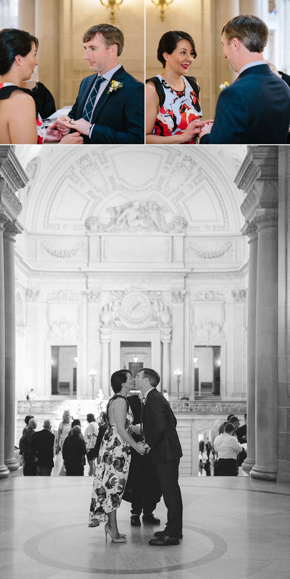 The kiss! Getting hitched at San Francisco City Hall.
