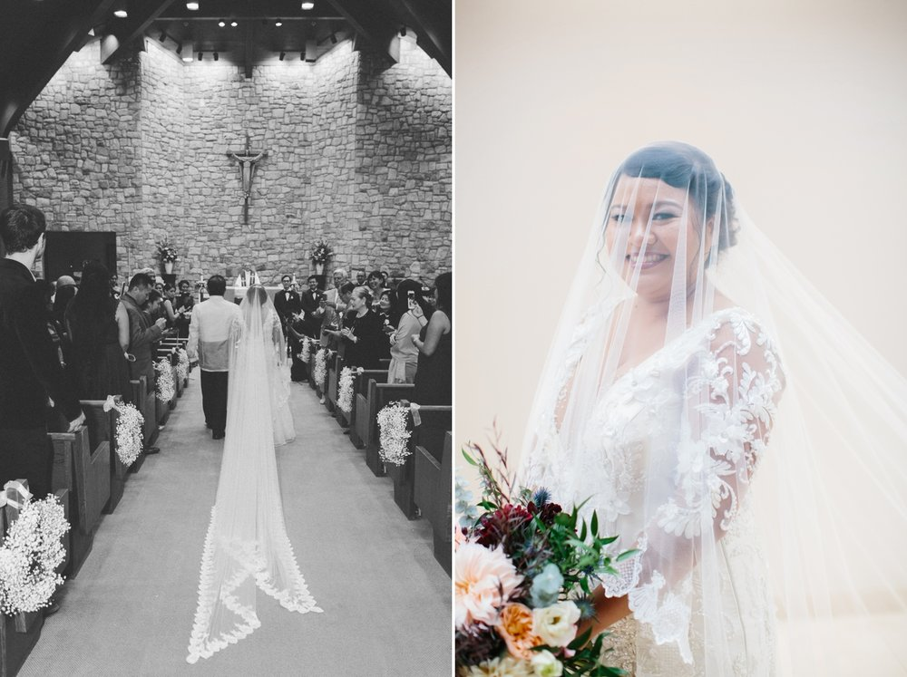 Jayvee looked stunning in Spanish mantilla veil as she walked down the aisle!