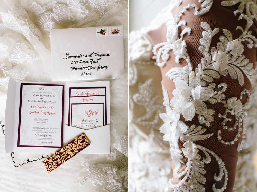 Jonathan's sister  Cat  custom made this beautiful wedding invitation suite for us with beautiful calligraphy and vine details.