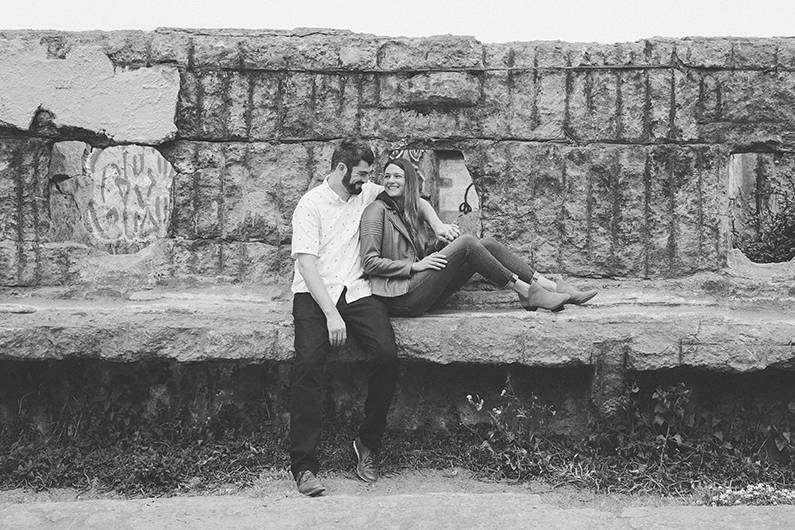Sutro Baths engagement session at ruins.