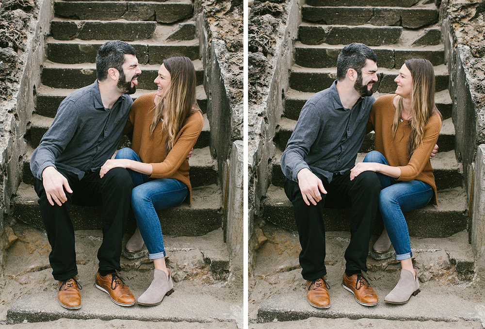 Goof off and have fun at your engagement session!