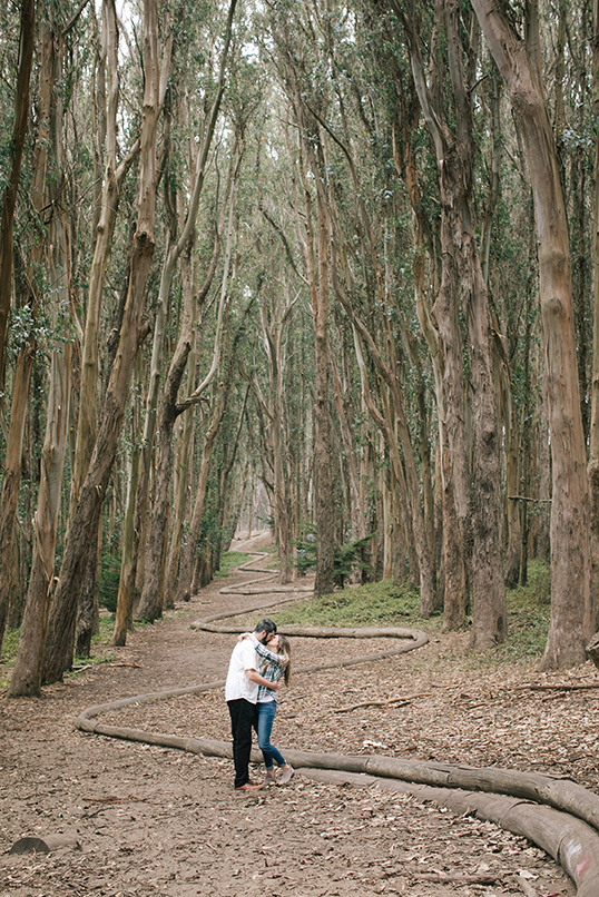 After Lands End we headed to the romantic Wood Line at Lovers Lane in San Francisco's Presidio.